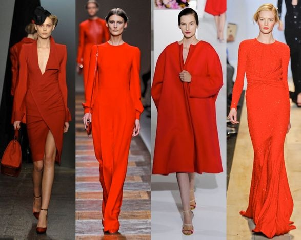 Crimson Runways - DK, Valentino, Jill Sander and MK