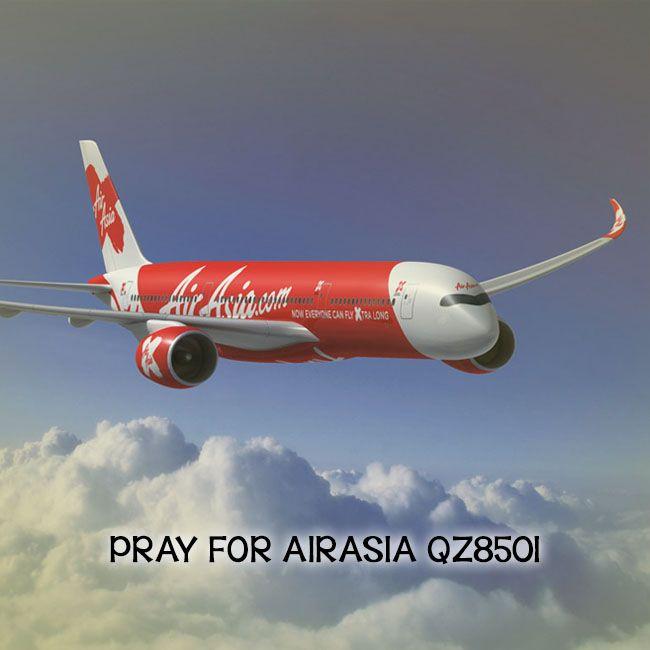 Mari sejenak menundukkan kepala sambil memanjatkan doa u/ semua korban Pesawat AirAsia QZ 8501 #prayforairasiaqz8501