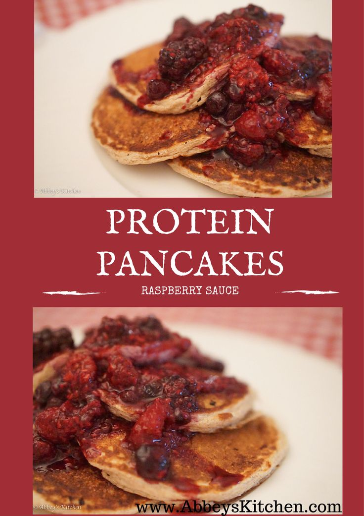 ... protein recipes for Cottage Cheese & Oatmeal Pancakes with Raspberry