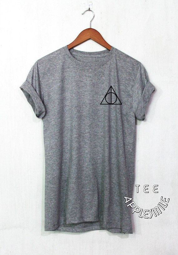 Harry Potter shirt Deathly Hallows Pocket t shirt by AppleSmileTee