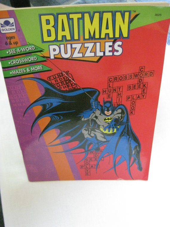 Vintage Batman Puzzles And Coloring Book By VintageByThePound 900