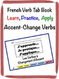 French Accent-Change Verbs Tab Book