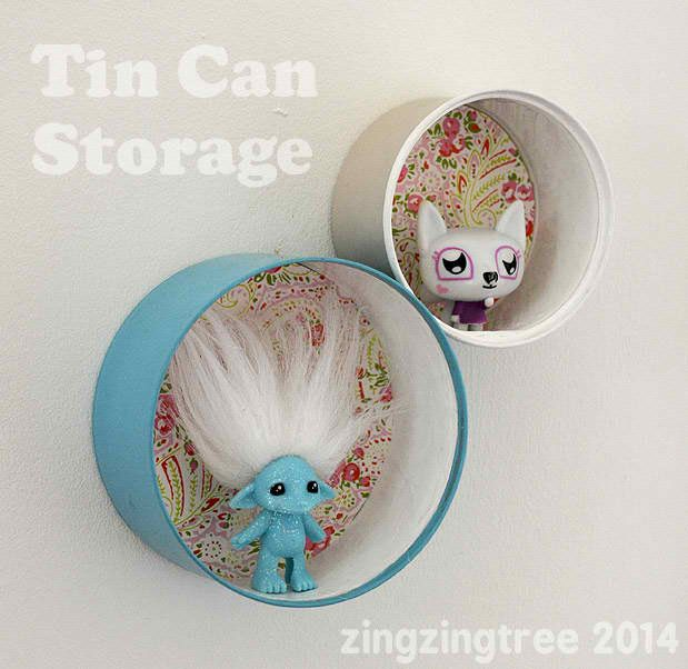 Upcycled Tin Can Storage