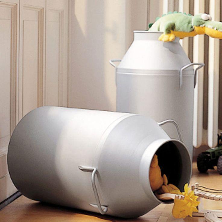 Porta biancheria diametro Ø35xh65 cm Milk Laundry Blu | Graepel spa | Stilcasa.Net: arredamento bagno