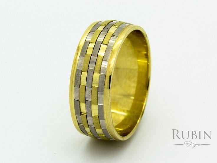 Bikolor arany karikagyűrű