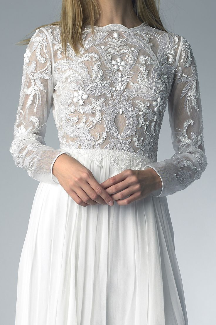 D6408L | Long Sleeve Beaded Gown  | Instyle New York