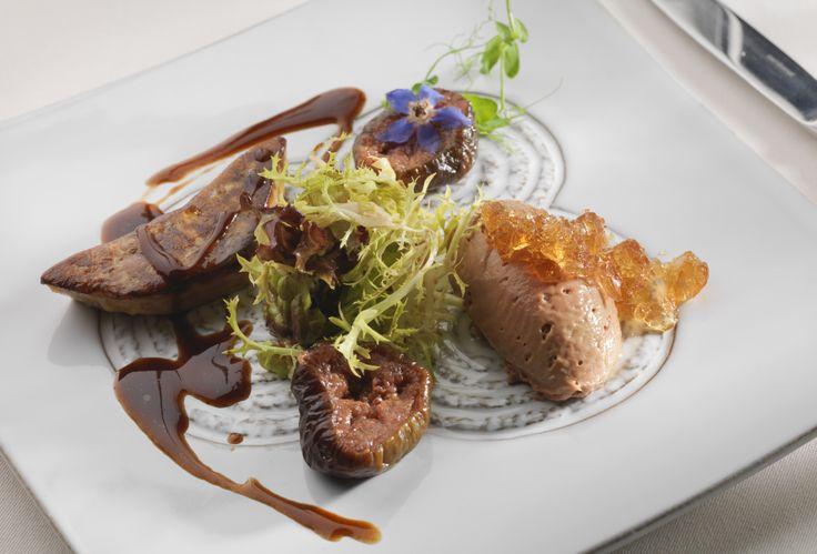Duo of Foie Gras in La Cascade Restaurant