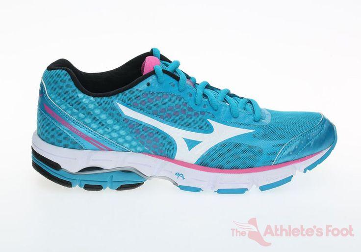 MIZUNO Wave Connect Aqua/White/Pink - The Athlete's Foot