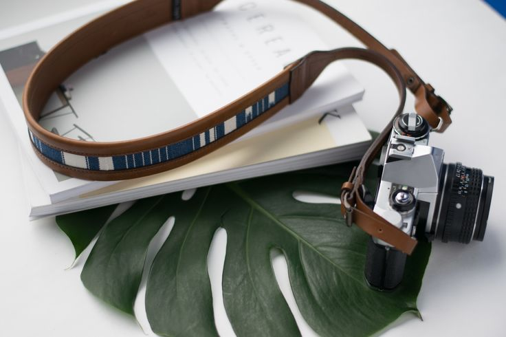 The Modern Indigo Camera Strap | Handmade Vegetable Tanned Leather x Exotic Textile | Shop Now ~ Jolielaide.ca | Take 10% off your next order with code 'shooters10' |