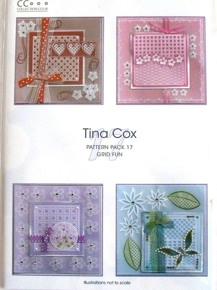 PATTERN PACK 17 - GRID FUN BY TINA COX      Pattern Pack Grid Fun by Tina Cox.