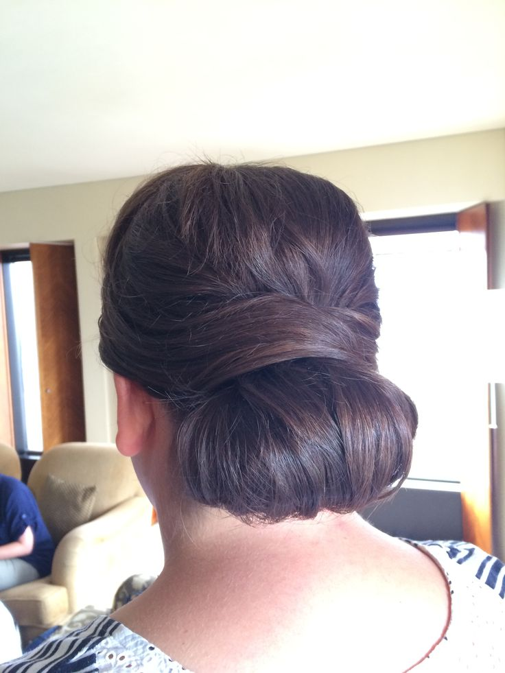 Low bun hair up style for brides or bridesmaids