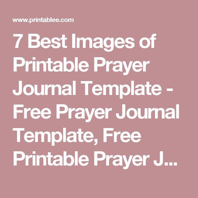 free printable prayer journal pdf