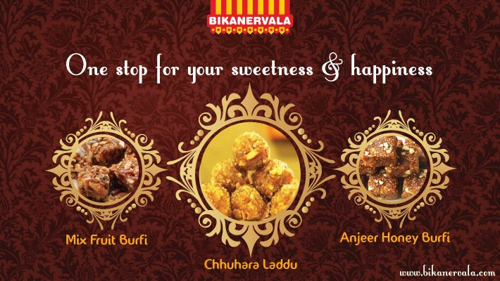 Try our ‪#‎newly‬ ‪#‎launched‬ ‪#‎tasty‬ ‪#‎sweets‬ ‪#‎Mixedfruit‬ burfi, ‪#‎Chhuharaladdu‬ and ‪#‎Anjeerhoney‬ ‪#‎Burfi‬. visit our official website to know more about products http://www.bikanervala.com/