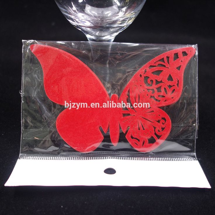 Check out this product on Alibaba.com APP Luxury Butterfly 11*7 cm plain color laser cutting Cup Cards Glass Wine Card Place name cards for wedding engagement
