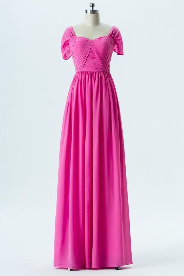 caffb48b901d A-Line Bridesmaid Dress, Bridesmaid Dress For Cheap, Short sleeve Bridesmaid  Dress, Bridesmaid Dress Pink #Bridesmaid #Dress #For #Cheap #Short #sleeve  ...