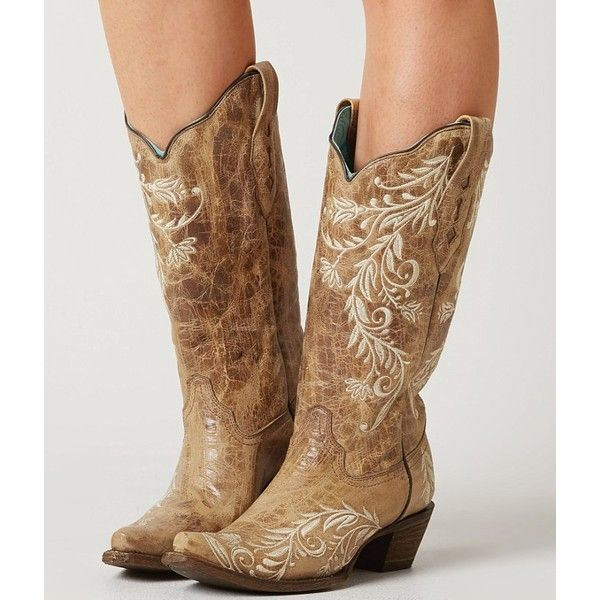 Corral Embroidered Cowboy Boot - Brown US 10 ($207) ❤ liked on Polyvore featuring shoes, boots, brown, tall cowgirl boots, brown boots, embroidered shoes, western boots and brown cowgirl boots