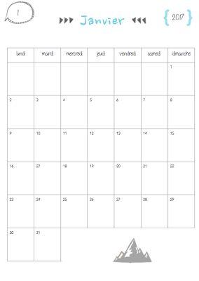 Calendrier 2016-2017 pour la classe / perso