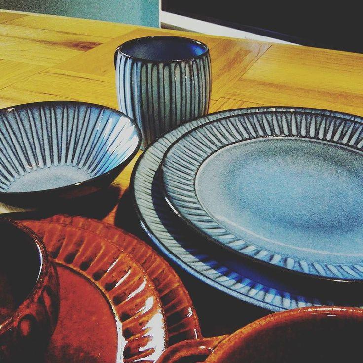 長崎の海の蒼波佐見焼利左エ門窯の蒼鎬(あおしのぎ) #波佐見焼#利左エ門窯#陶器#プレート#テーブルウェア#100パーセントプロジェクト#100percentproject #pottery #japanesepottery #plate #tableware #hasami #blue