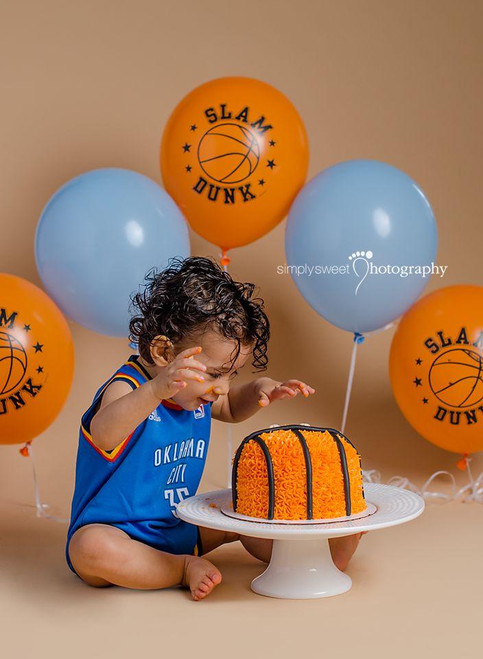 first birthday invitation template india%0A MJ u    s  st Birthday Cake Smash  Basketball theme cake smash