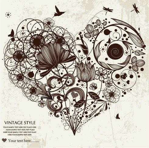 Love Heart - Zentangled :) | Tattoos | Pinterest