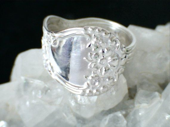 Popular Antique Sterling Silver Spoon Ring by williamhowardjewelry