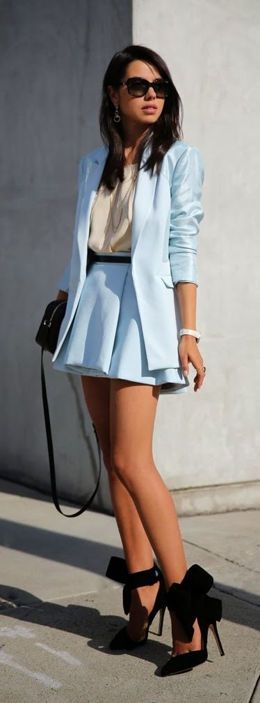 I don't like the matching blazer but I like the rest. Maybe a longer skirt so it…