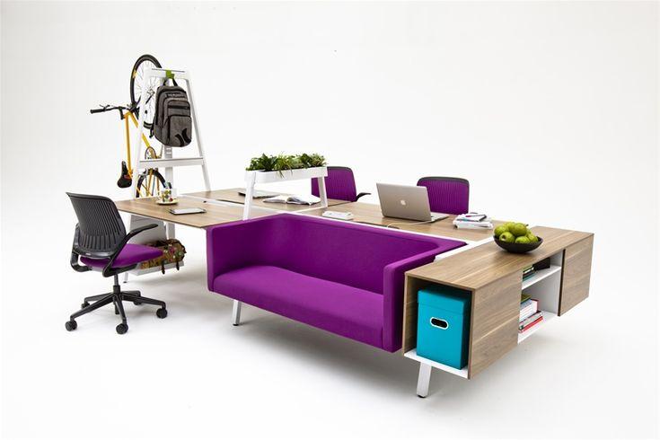 Bivi Modular Office Furniture Desk Systems The Purple