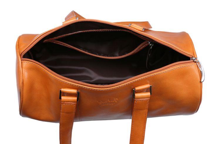 Inside #mandarin #cylinder #leather #handbag #barrel #barrelbag