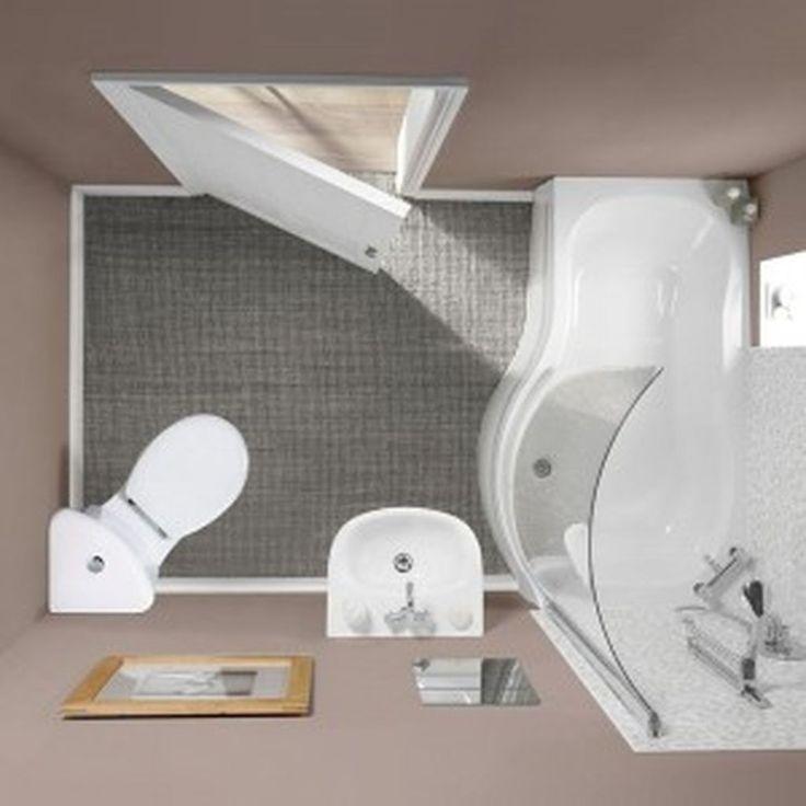 Más de 35 ideas creativas de diseño de baño en el ático pequeño Homekemiri adecuado para ahorrar espacio … baños