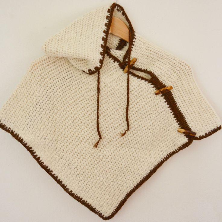 Poncho Baby, Poncho cappuccio, Poncho 100% Alpaca, Poncho lavorato all'uncinetto di AlpacaDiMarano su Etsy