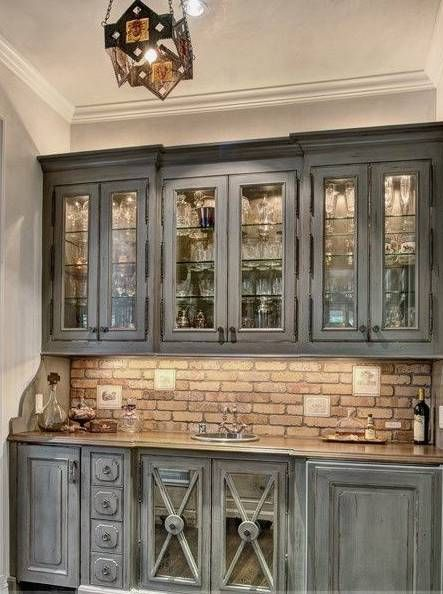 Rustic Cabinets Amp Backsplash Farmhouse Kitchen