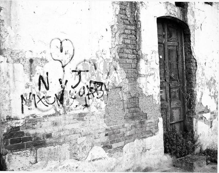 ruined facade.