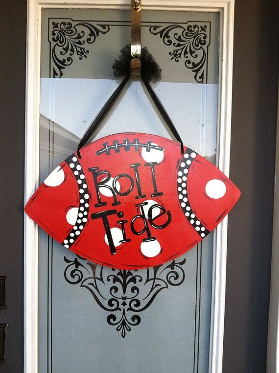 Personalized Football door hanger  by jacksle on Etsy, $32.00