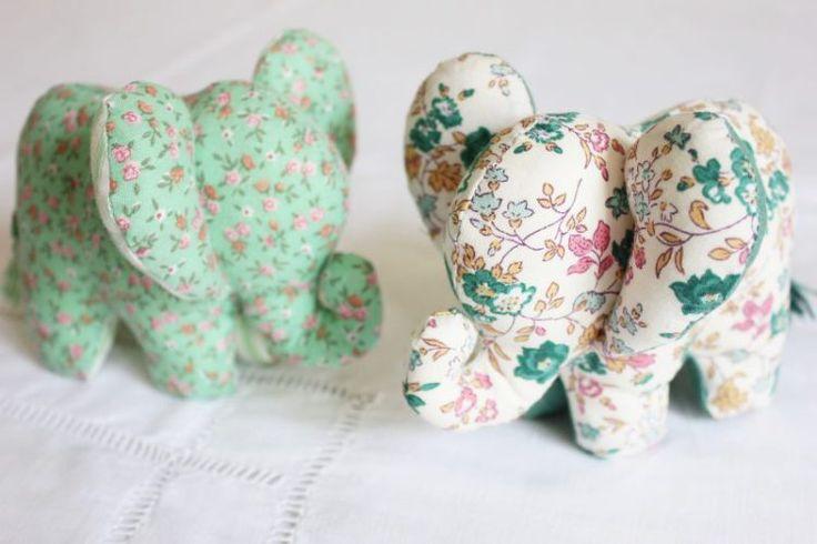 Tuto et patron peluche éléphant
