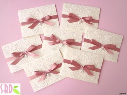 Presentazioni di #matrimonio con nastro #rosa