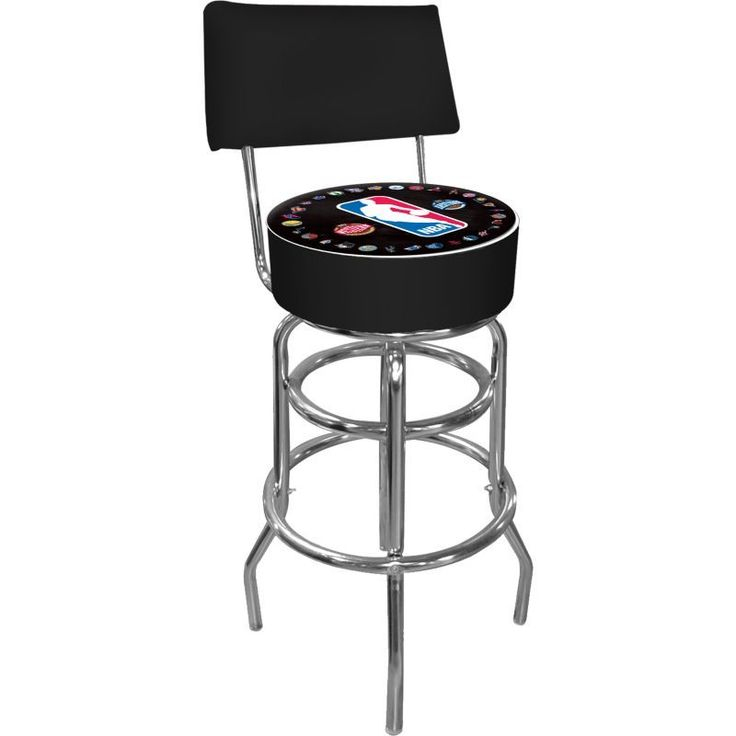 Trademark Games NBA League Padded Swivel Bar Stool with Back, Team