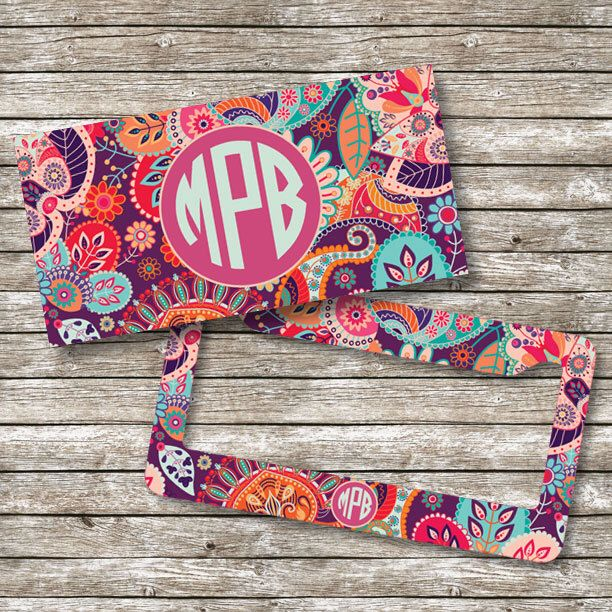 Monogram License Plate and Frame, Personalized License Plate, Monogram Car Tag (0015) by ShopEighty4 on Etsy https://www.etsy.com/listing/258319163/monogram-license-plate-and-frame
