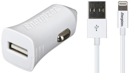 Energizer Energizer 2.4А Apple 8pin MFI  — 1290 руб. —  Автомобильное зарядное устройство Energizer 2.4А Apple 8pin MFI подходит для работы с различными мобильными девайсами, использующими интерфейс Apple Lightning – в том числе телефонами iPhone, плеерами iPod и планшетами iPad.Быстрая зарядка. Сила тока на контактах разъема равна 2,4 А. Это означает, что подзарядка аккумулятора отнимет не больше времени, чем при подключении к обычной розетке.Надежная фиксация. Применение специальных…