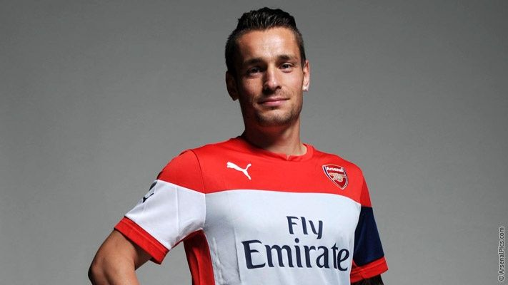 Pictures: Mathieu Debuchy in Arsenal kit