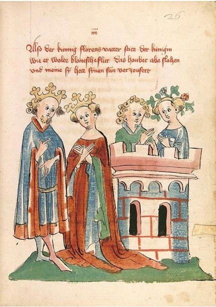 Floris en Blancefloer groeiden samen op. De koning was er fel op tegen dat zijn zoon liefde voor het meisje opgevatte. Daarom bedacht hij een wreed plan. Hij vertelde de koningin dat hij Blancefloer wilde laten onthoofden omdat ze Floris betoverd zou hebben.