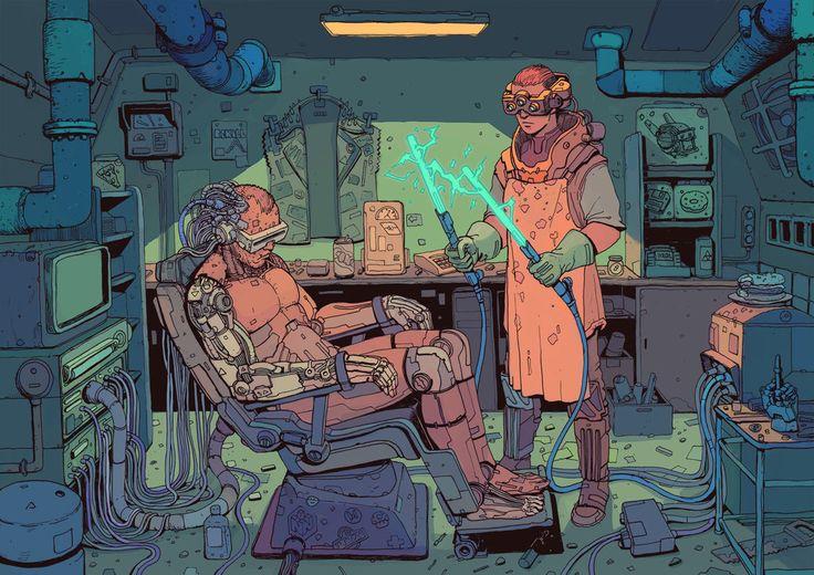 The vividly visualized sci-fi artwork of Josan Gonzalez. http://www.fsix.es/