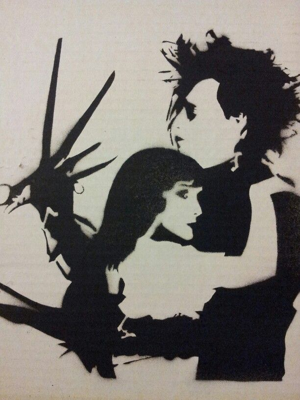 Edward Scissorhands Stencil Stencil Spray Paint