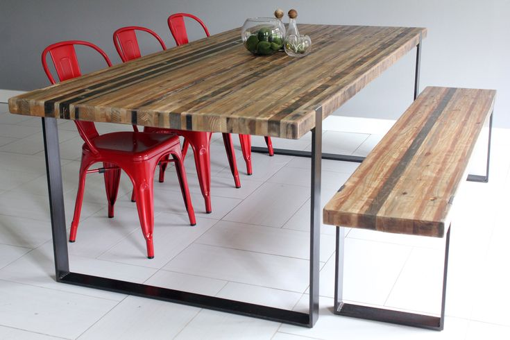 Dining Room Pleasant Wooden Dining Table With Stainless Steel