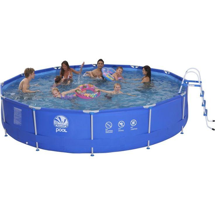 Zwembad Sirocco set rond blauw 450  Metal frame bad van Jilong met een blauwe liner en 90 cm diep. Het bad wordt als set geleverd incl. cartridge filterpomp van 20 m?/u. Cover grondkleed en kinderveilge ladder worden eveneens meegeleverd. Eenvoudig te monteren in ongeveer 45 minuten.Voorzien van duidelijke handleiding en reparatieset. Inhoud 12.162 liter. Conform: pr EN16582. Afmeting: 450 x 90 cm.  EUR 329.00  Meer informatie