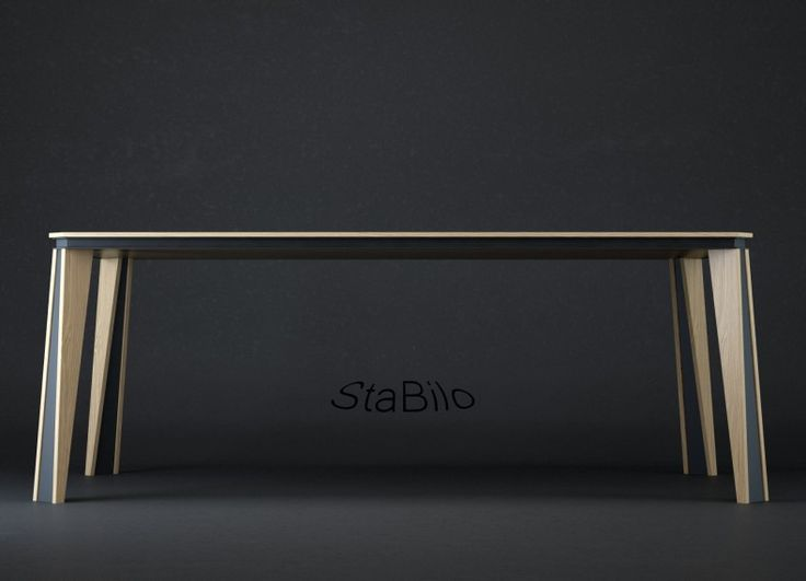 Il tavolo di design StaBilo elegante, leggero e ampio è pensato per la vira attorno ad esso. Due gambe che lo slanciano altre due che lo tengono stabile al pavimento....tra realtà e sogno....staBilo regala l'emozione di condividere un momento seduti tutti attorno allo stesso tavolo.