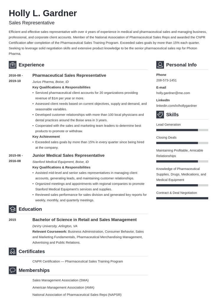 sales representative resume example template vibes in 2020