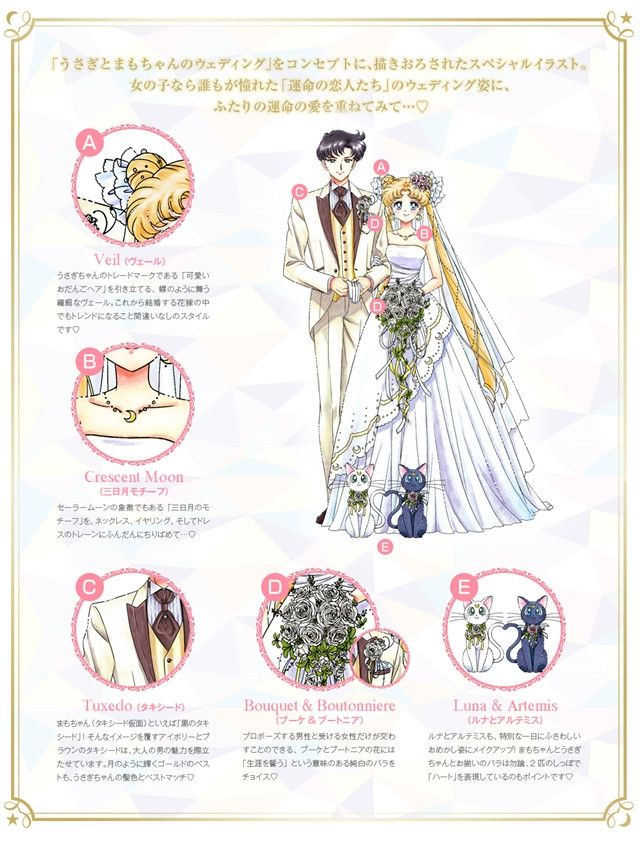 """Crunchyroll - New """"Sailor Moon"""" Marriage Registration Paper Features Usagi and Mamoru's Wedding"""