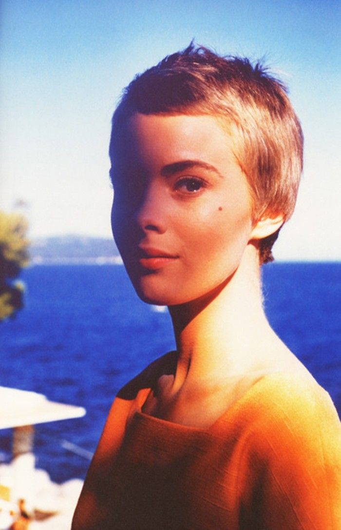 "Jean Seberg  ""Androgynous and effortlessly chic, Seberg adopted a menswear-inspired aesthetic that exuded innocence and charm"""