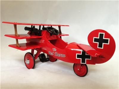 HALLMARK 2001 KIDDIE CAR CLASSICS 1950s RED BARON MODEL AIRPLANE - LIMITED EDITION NEW