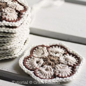 African Flower Crochet Purse pattern